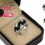 แหวนเพชร ประดับ เพชรCZ แหวนดีไซน์แปลกตาสวยหรู โดดเด่นด้วยการฝังเพชรผสมผสานระหว่างเพชรกลมดำและเพชรกลมขาว thumbnail 2