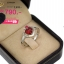 แหวนเงิน ประดับเพชร CZ แหวนพลอยหัวใจสีแดง ล้อมเพชร CZ ดีไซน์หรูดูภูมิฐานใส่ได้ตลอดเวลา thumbnail 2