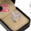 แหวนเพชรcz ประดับเพชร CZ แหวนทรงหยดน้ำแข็ง ดีไซน์แปลกทันสมัยเพิ่มความแตกต่างให้กับเรียวนิ้ว ให้มีความเก๋ไก๋มากยิ่งขึ้น thumbnail 2