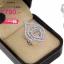 แหวนเพชร ประดับ เพชรCZ แหวนลายเส้นดัดเป็นรูปหยดน้ำ 3 หยดซ้อนทับกัน ฝังเพชรกลมขาว สวยเก๋เพิ่มความโดดเด่นให้กับเรียวนิ้ว thumbnail 2