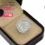 แหวนเพชร ประดับ เพชรCZ แหวนใบไม้ ฝังเพชรสี่เหลี่ยม ขอบใบฝังเพชรกลมขาว ดีไซน์หรูทันสมัย สไตล์ เรียบหรู แนวคลาสิค ซื้อเก็บไว้ใส่ได้ทุกโอกาส thumbnail 2