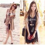Sweet Summer See-through Floral Lace Outer Set