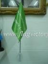 ธงนำทางหนีไฟ สีเขียวอ่อน 30 x 45 cm