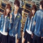 PRE-ORDER เสื้อคู่รักเกาหลีใหม่ เสื้อแจ็คเก็ตยีนส์แขนยาวปักลายออกแบบแฟชั่นใหม่ ญ/ช.เสื้อแจ็คเก็ตแขนยาว