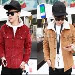 PRE-ORDER เสื้อกันหนาวแฟชั่นแบบใหม่ เสื้อแจ็คเก็ตกันหนาว ผ้ากำมะหยี่ขนแกะหนานุ่มอบอุ่นออกแบบเรียบทันสมัย