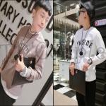 PRE-ORDER เสื้อกันหนาวแฟชั่นแบบใหม่ เสื้อกันหนาวคอกลมผ้าฝ้ายหนาอบอุ่น ออกแบบพิมพ์ตัวอักษรINSIDE