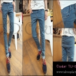 PRE-ORDER กางเกงยีนส์2014 แฟชั่นเกาหลี กางเกงสียีนส์อ่อนขายาว