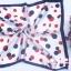 ผ้าพันคอผ้าซาติน Spot Blue and Red thumbnail 2